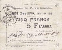 France 5 Francs Flers-En-Escrebieux City - 1914