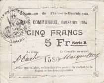 France 5 Francs Flers-En-Escrebieux Commune - 1914
