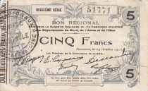 France 5 Francs Fourmies City - 1915