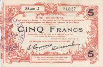 France 5 Francs Fourmies City - 1916