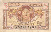 France 5 Francs French Treasury - 1947 - Serial A - F