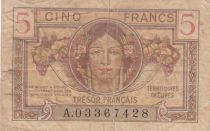 France 5 Francs Head of woman - 1947