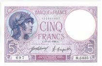 France 5 Francs Helmeted woman - 1920