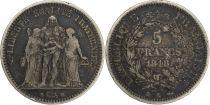 France 5 Francs Hercule - 1848 K Bordeaux