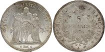 France 5 Francs Hercule - 1876 A Paris- Argent - 2nd EX