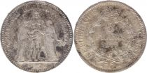 France 5 Francs Hercule - 1877 A Paris