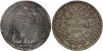 France 5 Francs Hercule - 1877 K Bordeaux - Silver