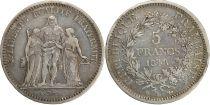 France 5 francs Hercule - II eme République - 1848 BB Strasbourg