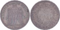 France 5 Francs Hercule - IIeme République - 1848 A Paris - TTB