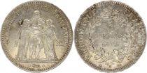 France 5 Francs Hercule - III e Rép.  - Argent