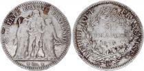 France 5 Francs Hercule - III e Rép. 1873 K Bordeaux - Argent