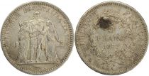 France 5 Francs Hercule - III e République - 1872 A Paris