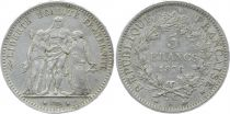 France 5 Francs Hercule - III e République - 1876 A