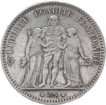 France 5 Francs Hercule - III e République - 1876 A