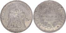 France 5 Francs Hercule - III e République 1871 A Paris