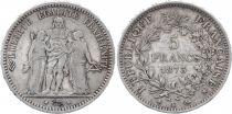 France 5 Francs Hercule - III e République 1873 K Bordeaux
