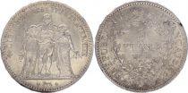 France 5 Francs Hercule - III e République 1878 K Bordeaux