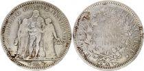 France 5 Francs Hercule II e Rép. - 1848 A Paris Argent
