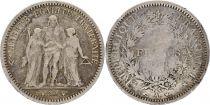 France 5 Francs Hercule II e Rép. - 1849 A Paris Argent