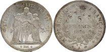 France 5 Francs Hercules - 1876 A Paris - Silver - 2nd ex - XF to AU
