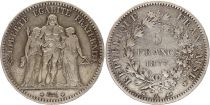 France 5 Francs Hercules - 1877 A Paris - Silver
