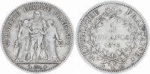 France 5 Francs Hercules - 3th Republic 1875 K Bordeaux