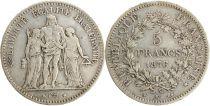 France 5 Francs Hercules - 3th Republic 1876 K Bordeaux