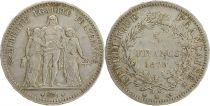 France 5 Francs Hercules - 3th Republic 1878 K Bordeaux