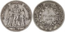 France 5 Francs Hercules - 3th Republic 1878 K Bordeaux