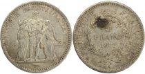 France 5 Francs Hercules - III republic - 1872 A Paris