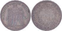 France 5 Francs Hercules - Second Republic - 1848 A Paris - VF