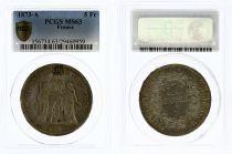 France 5 Francs Hercules - Third Republic - 1873 A - PCGS MS 63