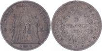 France 5 Francs Hercules - Third Republic - 1874 A Paris - F+
