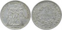 France 5 Francs Hercules - Third Republic - 1876 A