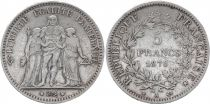 France 5 Francs Hercules - Third Republic - 1876 A