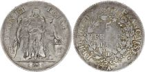 France 5 Francs Hercules group - An 4 A - Fine - Silver