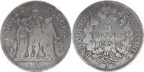 France 5 Francs Hercules group - An 6 A - Fine - Silver