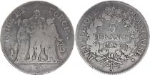 France 5 Francs Hercules group - An 6 A - Fine - Silver