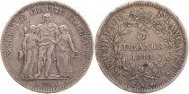 France 5 Francs Hercules IInd Republic - 1848 K Bordeaux