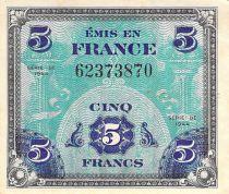 France 5 Francs Impr. américaine (drapeau) - 1944 Sans Série - TTB