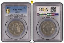 France 5 Francs Laureate head - 1937 - PCGS MS 63