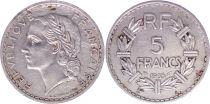 France 5 Francs Lavrillier - 1935