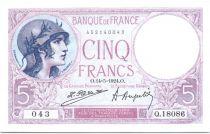 France 5 Francs Lilac- 1924 - Q18086 043
