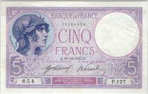 France 5 Francs Lilac 19-12-1917 - Serial P.127