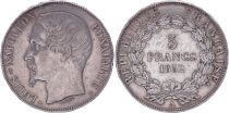France 5 Francs Louis-Napoleon Bonaparte - Large head - 1852 A - F+
