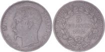 France 5 Francs Louis-Napoleon Bonaparte - Small head - 1852 A - F+