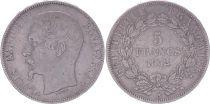 France 5 Francs Louis-Napoléon Bonaparte - Tête étroite - 1852 A - TB+