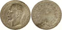 France 5 Francs Louis-Napoléon Bonaparte - Tête étroite - 1852 A