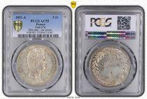 France 5 Francs Louis-Philippe  - 1831 A tranche en creux - PCGS AU55