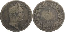 France 5 Francs Louis-Philippe - 1830 W Lille incuse lettering
